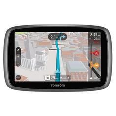 TomTom GO 500 5.0 Touchscreen Portable GPS System w/USA Canada & Mexico Maps Free Lifetime Map & Traffic Alerts