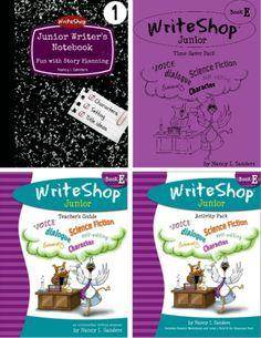 WriteShop Junior E Value Pack: Teacher's Guide Activity Pack w/Fold-N-Go Grammar Time-Saver Pack Junior Writer's Notebook 1 (digital only); homeschool writing curriculum for grades 4-5.