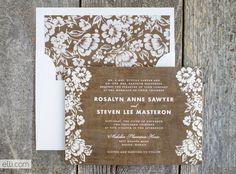Free woodgrain envelope liner pattern printable