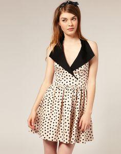 Spotty collar dress.