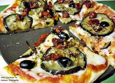 pizza de berenjena asada  tomates secos ya sé qué voy a cenar hoy