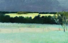 """The North Pasture,"" Wolf Kahn, 1981, oil on canvas, 36 x 24"", Dryads Green Gallery,"