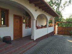 Parasztház has accommodations with barbecue facilities and free WiFi. Parasztház Dunaalmás Hungary R:Komarom-Esztergom hotel Hotels Cottage Interiors, Cottage Homes, Courtyard Design, Traditional House, My Dream Home, Interior And Exterior, House Plans, New Homes, House Design