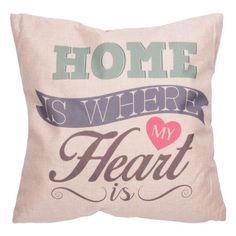CUSH74 - Cuscino - Home is Where my Heart is 43x43cm | Puckator IT #cushion #complementiarredo #cuscini