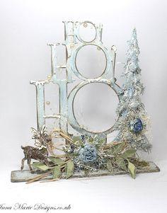 HoHoHo stand up tree blue