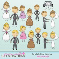 Bridal Stick Figures