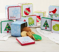 Ship Week 12/7 Cheryl's 8 plus 2 Bonus Holiday Tins with Cookies