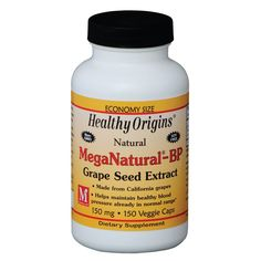 Healthy Origins Mega Natural BP-Grape Seed Extract, 150 Mg, 150 Count -- Additional info  : Herbal Supplements
