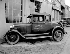 Water Department car, 1930