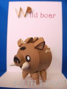 Wild boar(イノシシ) - 立体クイリングキットのお店◆クイリングキューブ◆