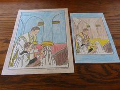 197 best catholic coloring pages images catholic crafts. Black Bedroom Furniture Sets. Home Design Ideas