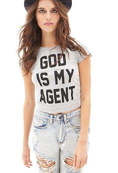 God Is My Agent Tee | FOREVER21 - 2000066826