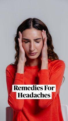 Home Remedy For Headache, Oil For Headache, Tension Headache, Headache Remedies, Home Remedies, Basil Oil, Physical Pain, Natural Health Remedies, Lavender Oil