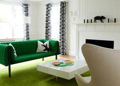 love the green love the sofa Maplewood / NJ / Residence 1 - rinaldi interiors