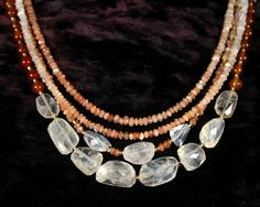 Moonstone Necklace Layered Necklace by ByDivineCollectibles $90