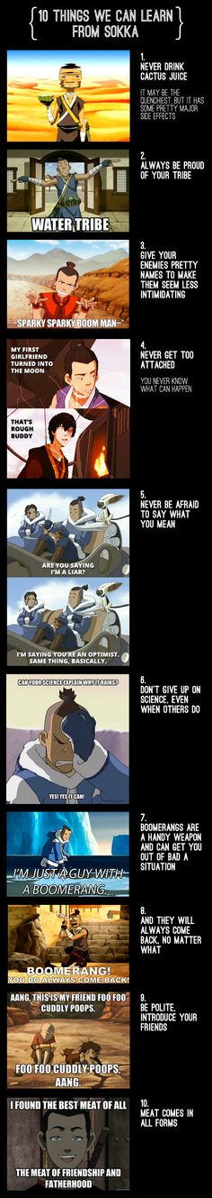 10 Things We Can Learn from Sokka www.buzzfeed.com/burtney/10-things-we-can-all-learn-from-sokka-a8fm?sub=2156498_1089747