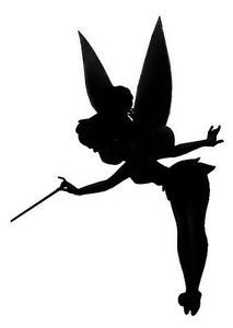 Tinkerbell-Fairy-Wand-silhouette-cutout-Wall-Stickers-Car-Decals-12cm