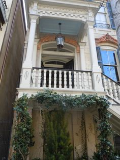 """""""Haint Blue"""" is an actual paint color for porch ceilings in Savannah. Why? Keeps the haints away. New Orleans does the same thing, only to keep Vampires away."""