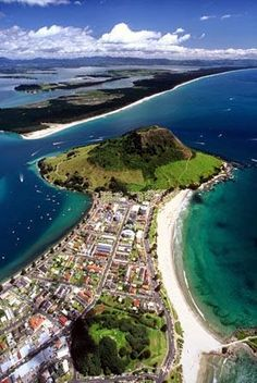 Tauranga, the biggest city in the Bay of Plenty, North Island, New Zealand