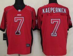 Nike San Francisco 49ers #7 Colin Kaepernick 2013 Drift Fashion Red Elite Jersey