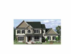 2225 sq ft with basement Handsome Home (HWBDO69368) | Adam - Federal House Plan from BuilderHousePlans.com