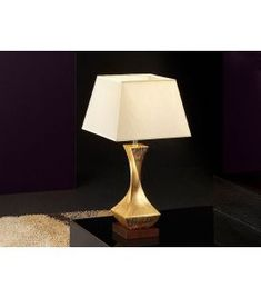 Comprar online Lámpara de Mesa : Colección DECO Oro Table Lamp, Lighting, Home Decor, Gold Leaf, Contemporary Style, Wood And Metal, Standing Lamps, Table Lamps, Decoration Home