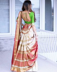 Interesting drape and a gorgeous saree