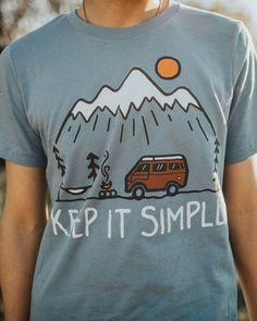 Keep it Simple Unisex Tee | Steel Blue - Keep It Wild