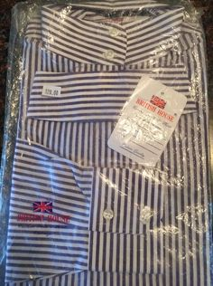 Womens Show Shirt Equestrian By British House size 34 NWT Retail $120 Striped  | eBay