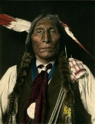 Hoiio-Wotoma, Cheyenne, 1909. Colored carbon print. Photo by De Lancey W. Gill. Palace of the Governors Photo Archives 86994. Exhibit: May 18 to November 4, 2012.