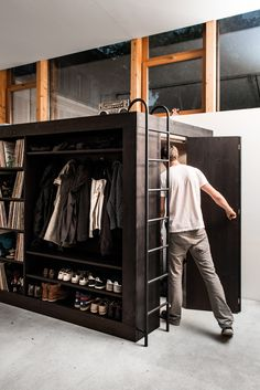 3 part functionality.  Sleep on top, store stuff on the side and keep more stuff inside with a less cluttered look.  Also would be a good place to hide. So 4...