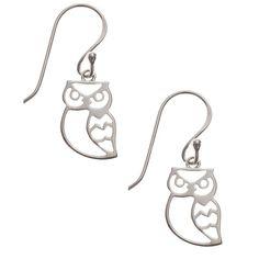 Silver Owl Earrings, $26