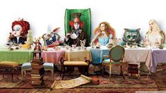 Alice in Wonderland Party | Alice In Wonderland Tea Party 1920x1080 HD Wallpaper Movies