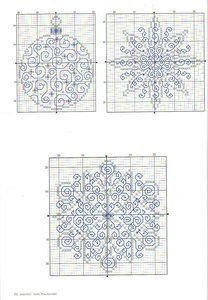 Blackwork or redwork embroidery designs.