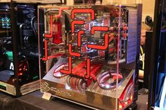 pcgaming One of the amazing PCs from the Thermaltake booth that we went to yesterday. By @mp_customized #rigs