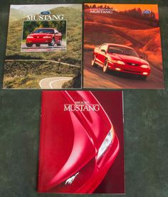 Ford Mustang Dealer Sales Brochures 1995-1996-1998 (Lot Of 3) FREE SHIPPING!