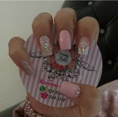 Uñas lind as Perfect Nails, Gorgeous Nails, Love Nails, Pretty Nails, Cute Acrylic Nails, Matte Nails, Pink Holographic Nails, Nail Candy, Square Nails