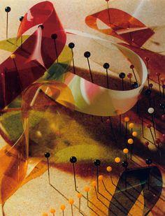 Lazlo Moholy-Nagy, Study with Pins and Ribbons, 1937-1938