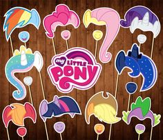 My Little Pony Photo Booth Props -My Little Pony Birthday - Printable PDF - My Little Pony Party - INSTANT DOWNLOAD - My Little Pony Masks by PartyPropsStore on Etsy https://www.etsy.com/listing/539270168/my-little-pony-photo-booth-props-my