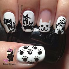 DIY Kitty Cat Nails DIY Nails Art