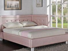 Corner Headboard Diy bedroom, diy corner wood bed frame with high headboard for queen