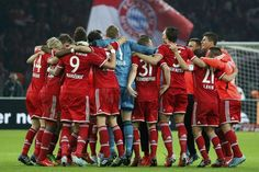 Bayern Munich's players celebrate winning their German soccer cup final match against VfB Stuttgart at the Olympic Stadium in Berlin - FC Bayern München - DFB-Pokalsieger 2013  #Triple