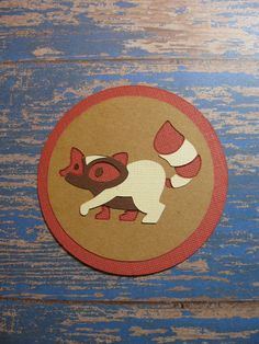 Campin Critters Badge - Racoon