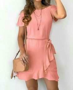 Women Casual Dress Feather Dress Dresses To Wear To A Wedding – ooklyy Source by casuales juvenil fiesta Casual Dresses For Women, Cute Dresses, Casual Outfits, Short Sleeve Dresses, Summer Dresses, Dresses Dresses, Dresses To Wear To A Wedding, Feather Dress, Chiffon Dress