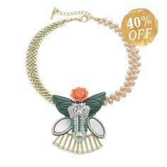 La Belle Rose Collage Necklace, was $128, now $76  TODAY ONLY!!  www.chloeandisabel.com/boutique/brikay