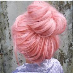 Pink hair color #hairstyles #haircare #haircolor #haircuts #shorthair #pinkhair #meatballs Bold Hair Color, Pastel Hair, Pink Hair, New Hair, Your Hair, Rose Gold Hair, Crazy Hair, Mermaid Hair, Hair Goals