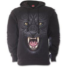 Beauty and ferocity are embodied in the darkly elegant form of a panther with tribal patterns in her fur – as black as the night, moving in swiftly for the kill. Premuim Biker Fashion Mens Hoodie is made of Top Quality Cotton, Fleece using la. Gothic Fashion, Retro Fashion, Vintage Fashion, Mens Fashion, Biker Fashion, Tribal Outfit, Tribal Patterns, Fashion Marketing, Cotton Fleece
