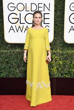 2017 Golden Globes: Perhaps a subtle ode to Jackie O. (whom she brought back to life in last year's Jackie), we're pretty sure this Prada dress on Natalie Portman would have wowed the First Lady as much as it did us tonight. Well-played, Natalie.
