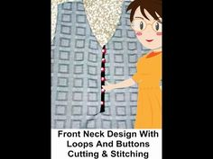 Front Neck Design With Loops And Buttons Cutting & Stitching - Tailoring With Usha - YouTube