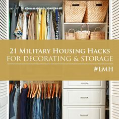 Check out these 21 Military Housing Hacks for decorating and storage from one of our #LincolnMilitaryHousing residents!